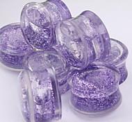 Acryl Glitter Flüssigkeit Ohrstöpsel Flesh Tunnel che Piercing Körperschmuck einen Satz von 2 12 mm