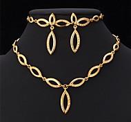 diseño de conjunto de collar u7® 18k oro verdadero plateado collar pendientes pulsera del Rhinestone de la joyería del partido
