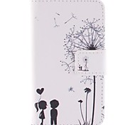 Dandelion and Lovers PU Leather Full Body Case with Stand and Card Slot for  Sony Xperia E1 experia D2004 / D2005