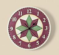 "9""H Geometric Pattern Polyresin Wall Clock"