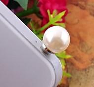 Single Pearl  3.5mm Anti-dust Plug for iphone /ipad/Millet