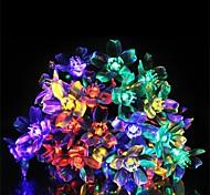 50 lámpara con serie de la lámpara solar flor de durazno (color clasificado)