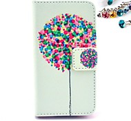 Many Of The Balloon Pattern PU Leather Full Body Case with Card Slot and Stand for iPhone 4/4S