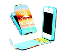 ne jamais cesser de rêver flip vertical cuir PU cas complète du corps avec support de carte pour iPhone 4 / 4S