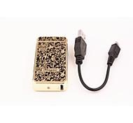 Creative Ultra-thin Metal USB Charging Electric Pulse Arc Lighter
