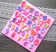 буквы номера в форме помадной торт шоколадный силиконовые формы