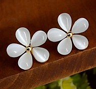 weißen Kirschblüten Ohrstecker
