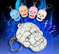 Scary Skull Head LED Sound Keychain(More Colors)