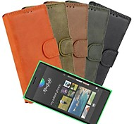 For Nokia Case Wallet / Card Holder / with Stand / Frosted Case Full Body Case Solid Color Hard PU Leather Nokia