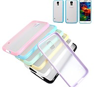 XUNDD Grind Arenaceous Candy Color Transparent Non-Slip Hard Back Cover for Samsung Galaxy S5 (Assorted color)