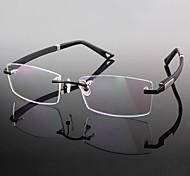 [Free Lenses] Titanium Rectangle Rimless Lightweight Prescription Eyeglasses