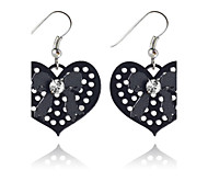 Drop Earrings Alloy Heart Simple Style Heart Black Jewelry Party Daily Casual 2pcs