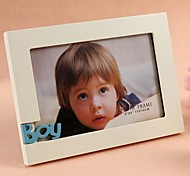 Personalized Framed Photo Creative Boy Design  White Wooden Frame 1 Photo