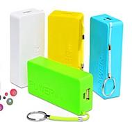 Banco de la energía polymeride portátil 5600mAh para el iphone 6.6 más / 5 / 5s / samsung s4 / s5 / Nota 2 (colores surtidos)