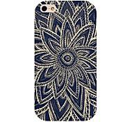 nero modello di fiore di caso per iPhone 4 / 4S