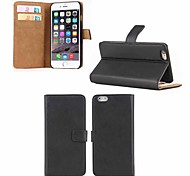 PU Leather Card Holder Full Body Cover Case for iPhone 6