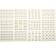 1 * 12 Stück neuen goldenen Nagelkunstaufkleber Abziehbilder Talon Nagelaufkleber Valentinstag Thema für den täglichen Maniküre embelishing