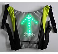 BIKEMAN™ Remote Control LED light-up Warning Bicycle backpack pendan