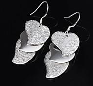 Earring Stud Earrings Jewelry Women Silver / Titanium 2pcs Silver