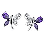 Fine Jewelry 925 Sterling Silver Earring Stud 1 Pair