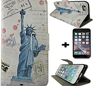 Torch Goddess Style PU Full Body Protective Cover with Stand and Card Slot Screen Protector for iPhone 6