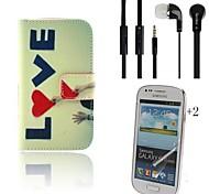 amar cuero de la PU caso de cuerpo completo con auricular y la película protectora 2 pcs para samsung tendencia Galaxy Lite s7390 s7392