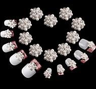 10PCS Shining Manicure drill pearl inlaid alloy Nail Art Decorations