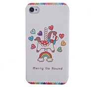 Cartoon Horse Pattern Full Body Case with Stand for iPhone 4/4S