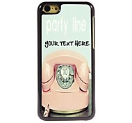 Personalized Phone Case - Telephone Design Metal Case for iPhone 5C