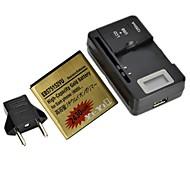 """yi-yi ™ batería 2430MAH 3.7v reemplazo con 0,8 cargador de batería lcd """"y enchufe de la UE para samsung galaxy s / i9000"""