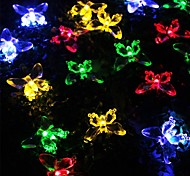 SOR-20-23 The Solar Butterfly String Lights Festival Courtyard Garden Decoration String Light 20LED 4.8M