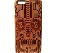 Kyuet Bamboo Case Artist Made Natural Bamboo Laser Engraving Mask Shell Cover Skin Cell Phone Case for iPhone 6