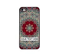 personalizzato phone case - tappeto caso di disegno del metallo rosso per iPhone 5 / 5s