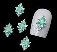 10шт зеленый горный хрусталь сплав для поделок рукой дизайн украшения искусства ногтя