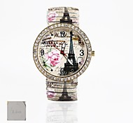 Personalized Gift New Style PVC Leather Band,Printing Dial UnisexFashion Quartz Watch