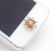 1Pcs Steering Wheel 1cm Buttons Stickers for iPhone and Others