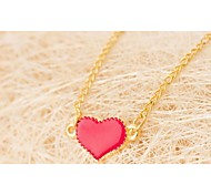 Love Is Your Small Peach Heart Pendant Necklace