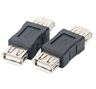Minismile™ 2PCS USB Female to Female Adapters Couplers (Pair)