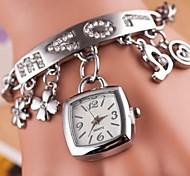 reloj del amor cuadrado pulsera lista de las mujeres (colores surtidos)
