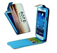 Hope Vertical Flip  PU Leather Full Body Case for Samsung S4 Mini I9190