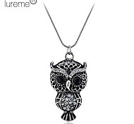 Lureme®Diamond Owl Necklace