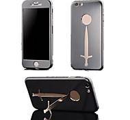 liga de alumínio escovado tampa de metal e Suporte para iPhone 6 (cores sortidas)
