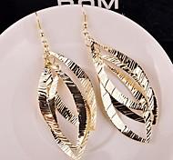 Drop Earrings Alloy Statement Jewelry Gold Silver Jewelry 2pcs