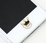 1Pcs Luxury Crown Rhinestone 1cm Buttons Stickers for iPhone and Others