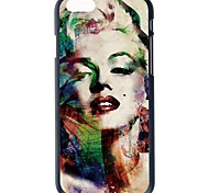 Doopootoo™ Fashion Marilyn Monroe Design Painted Pattern Slim Plastic Back Hard Case Cover For iPhone 6 Plus 5.5""