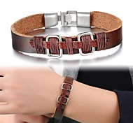 Fashion Simple Man Leather Bracelet