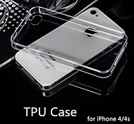 hot venda ultra fino estilo estojo flexível transparente TPU para iPhone 4 / 4S (cores sortidas)
