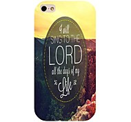 cantare del pattern Signore posteriore Case for iPhone 4 / 4s