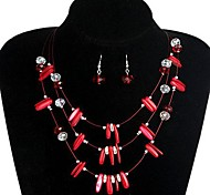 Fashion Handmade Necklace And Earring Jewelry Set Random Color