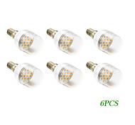 6 pcs E14 4 W 16 SMD 5730 280 LM Warm White LED Filament Lamps AC 100-240 V